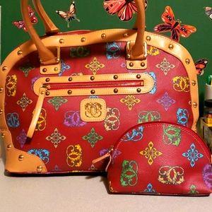 Sharif leather satchel with mini bag